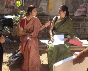 Scene from Proud Mothers shooting in Hyderabad. 17 January 2013.
