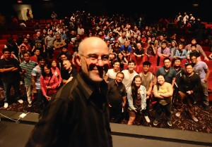 20 March 2014. Three hundred eager young shooters and filmmakers attended my public workshop in Makati City.